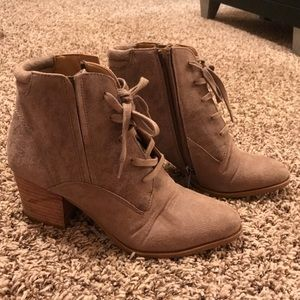 Booties with Lace up Detail
